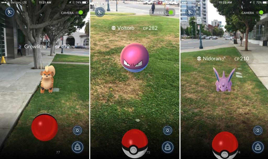 Pokemon Go Screens