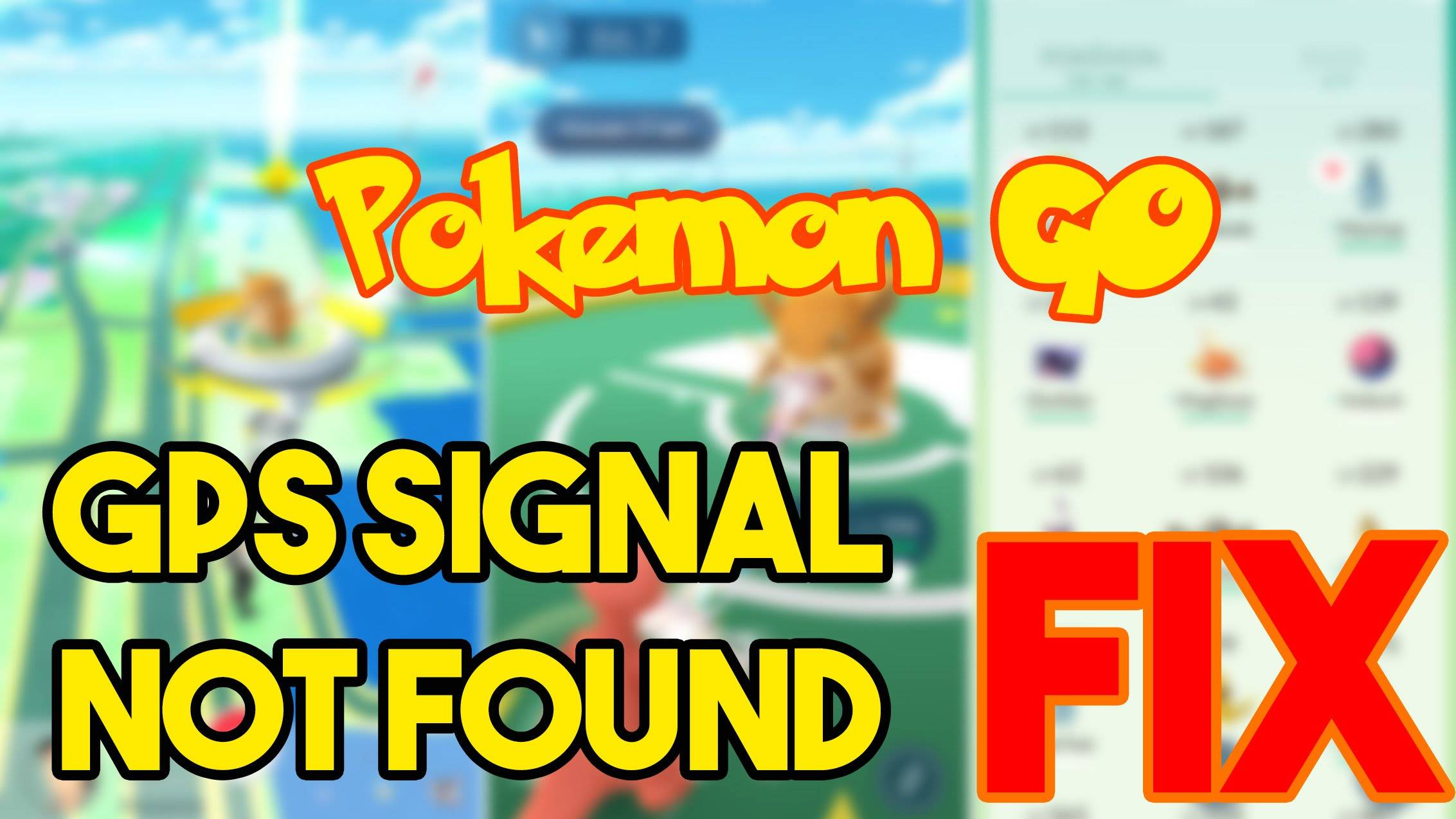 GPS Signal Not Found в Pokemon Go на Android